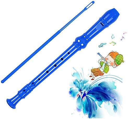 Kid s flute instrument 8 hole soprano music recorder with cleaning pole case bag instrument product image