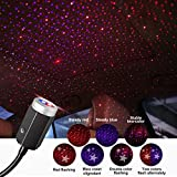 Univegrow Auto LED Toit Atmosphère Lumière LED Projecteur de Toit étoilé Lumière d'atmosphère de Toit Romantique USB Veilleuse Lampe d'ambiance de Lumière pour Voiture/Maison/Fête (Bi-color)