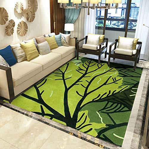 Alfombra Moderna para Salón, Patrón De Ramas Verdes, Alfombra De Salón Moderna, Alfombras...