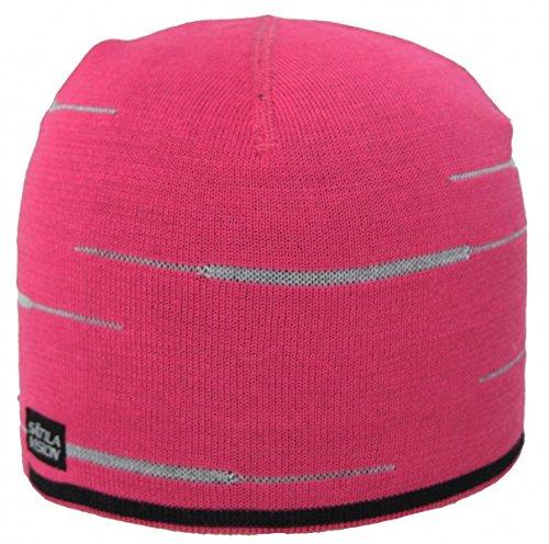 Sätila X-4 Mütze mit reflektierenden Elementen, atmungsaktiv, Coolmax®/Merino Mischgewebe, Größe:S/M;Farbe:Cerise