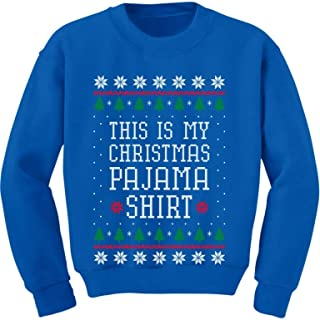 Tstars My Christmas Pajama Cute PJs Ugly Christmas Toddler/Kids Sweatshirt