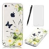 Lotuslnn iPhone 5C Coque,iPhone 5C TPU Silikon Etui Transparent Housse Cases and...