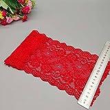 Nuevo patrón de flor de 1 yarda 15 CM de ancho cinta de tela de encaje elástico cinta de ajuste de encaje Diy artesanía tela ancho telas africanas Stretch-A5