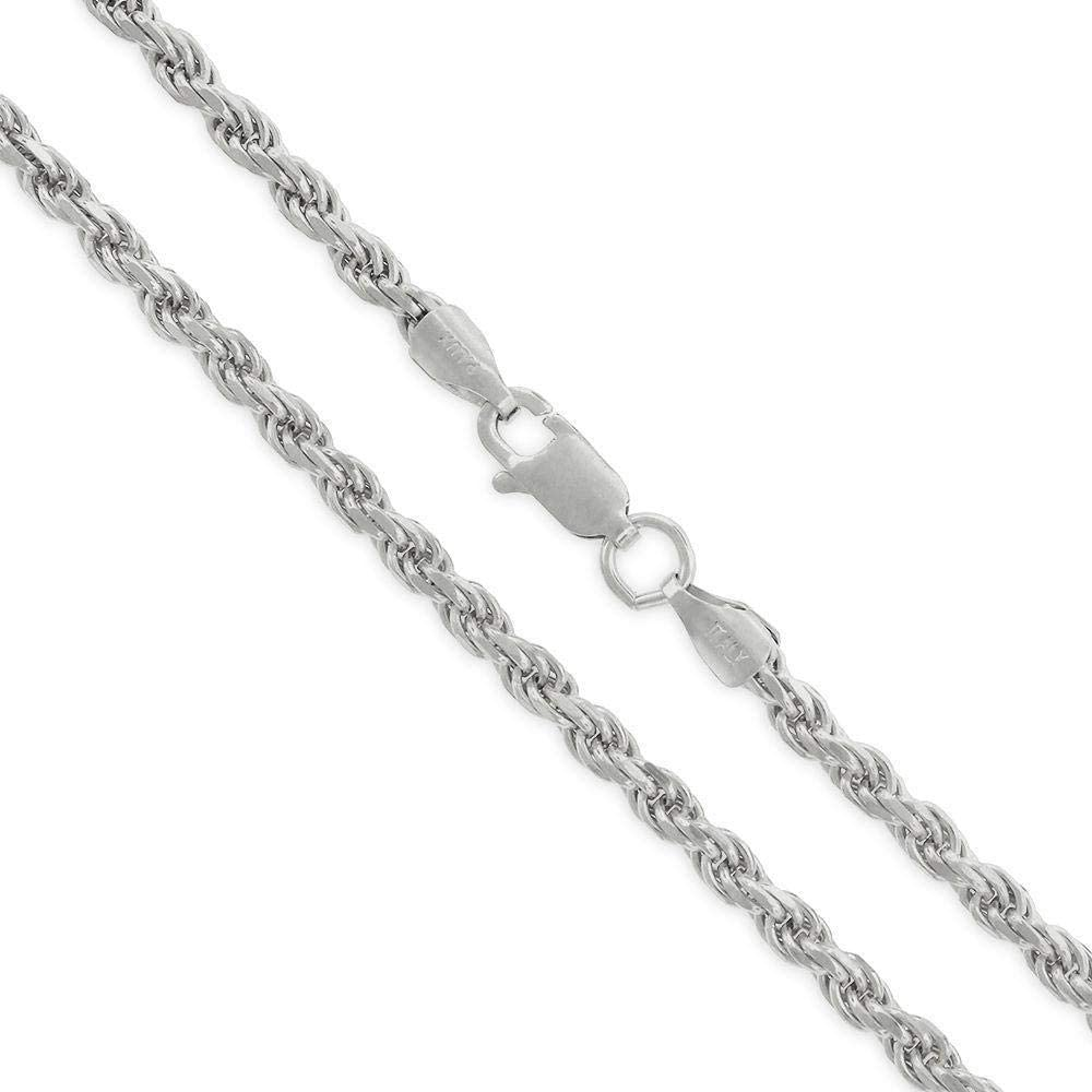 Authentic Solid 低廉 期間限定今なら送料無料 Sterling Silver Rope Twist L Diamond-Cut Braided