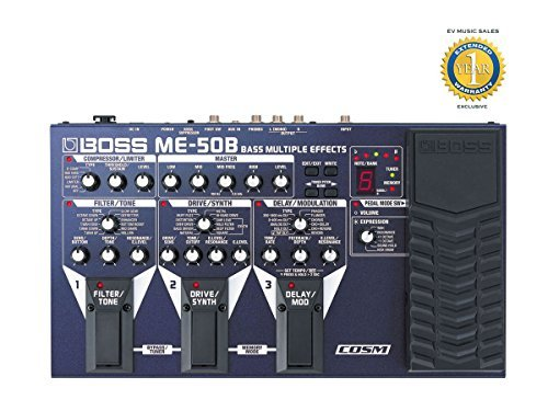 Boss ME-50B Bass Multiple Effects with COSM and 1 Year Free Extended Warranty