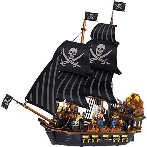 Piratas del Caribe Black Hawk modelo bloques de construcción niños ensamblados rompecabezas de juguete, mini ladrillos niños adultos DIY juguetes educativos regalos. 1804,1352pcs