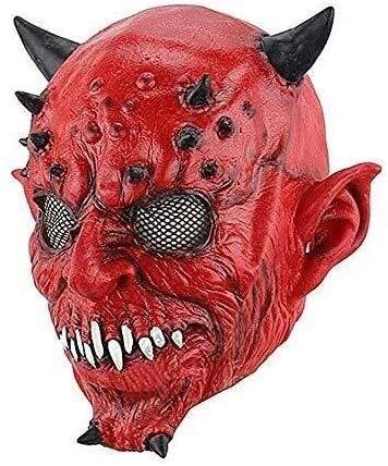 Las máscaras de Halloween son horribles y emociona Halloween máscara de horror infierno noche tenedor horquilla cuernos y bestias bolas de halloween hauntard house escape blacky bares de horror miedo