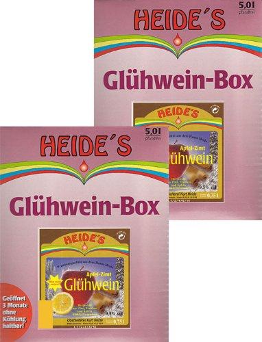 Glühwein Apfel-Zimt 9,5{fdc44b9eeaa0da9231135940c662cd9634651cca325d7945e0c481069b5eb3b4} Alc. 2er-Pack, 2 x 5 Liter