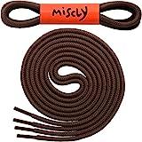 Miscly Cordones Redondos [3 Pares] Para Zapatos, Zapatillas de Deporte y Botas - Diámetro 4 mm (137cm, Marrón)