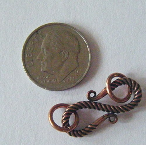 Clasp, Antique Solid Copper Bali Style Hook Clasp 22mm Bali Style Hook Clasp
