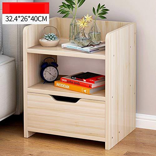 ZXYY modern nachtkastje slaapkamer kast lade nachtkastje goedkoop (kleur: walnoot) Maple Cherry Color