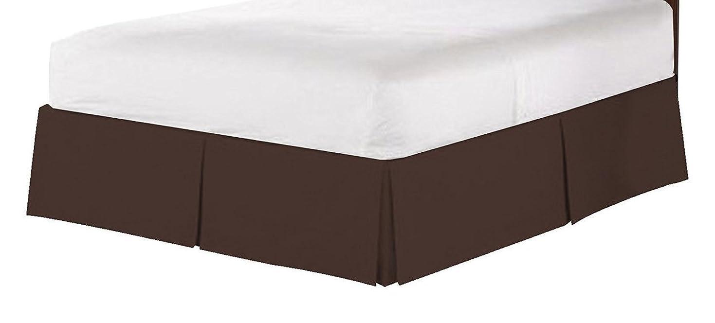財布かわいらしい発揮するjenylinen Best、Softest、Coziestベッドスカート550スレッドカウントエジプト品質18インチドロップ長、高級スーパーソフト1-pcベッドスカート、すべてのサイズ、すべての色(パターン:ソリッド) キング ブラウン