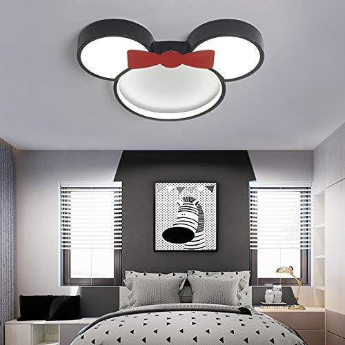 Kinderzimmer LED-Deckenleuchte 6000K weißes Licht Lampenschirm aus Metall-Acryl Deckenleuchte Junge Mädchen Kindergarten Schlafzimmer Arbeitszimmer Beleuchtung,24w∅50cm