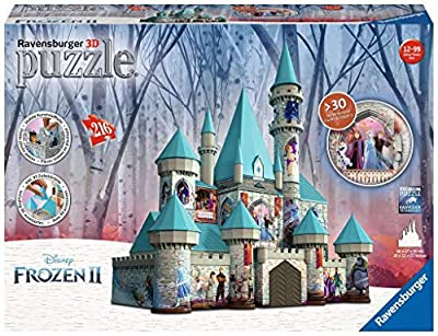 Ravensburger 11156 Disney Frozen 2 Castle - 216 Piece 3D Jigsaw Puzzle for Kids and Adults - Easy Click Technology Means Pieces Fit Together Perfectly, No Glue Required