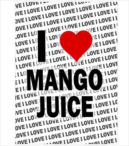 AK Giftshop A3 Poster - Ik hou van Mango sap - Gift - Verjaardag - Kerstmis - Stocking Filler