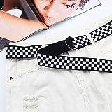 Godya Correa De Tablero Blanco Y Negro Cinturón De Lona EsES Cinturón De Sección Recreativa 135cm
