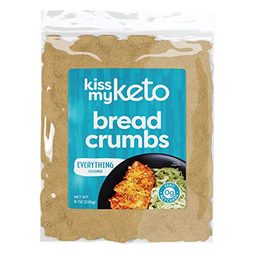 Kiss My Keto Bread Crumbs Zero Carb (0g Net) — Everything Seasoned | Low Carb Keto Breadcrumbs | 6g Protein per Serving, Sugar Free | Low Calorie, Non-GMO & Soy Free (Pack of 1)