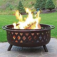 PWE-裏庭のパティオガーデンストーブの木の燃焼バーベキューファイアピット、ポーカー、火のピットカバー、キャンプファイヤーボーンファイヤー用グリル,Square lingge