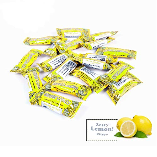 Gem Gem Ginger Candy Chewy Ginger Chews (1 Pound Bulk Pack) (Lemon) from Gem Gem