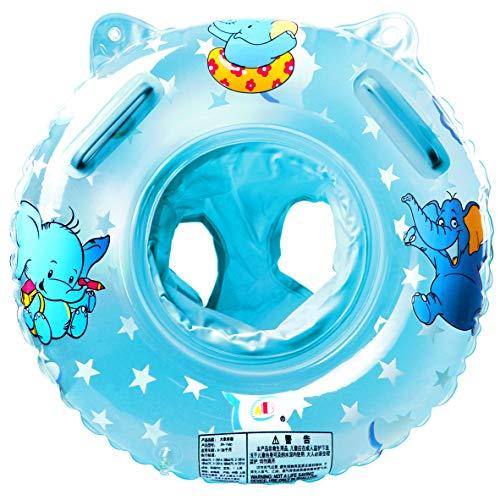 Schwimmring Baby Schwimmsitz Baby Schwimmhilfe mit Schwimmsitz PVC für Kleinkind Schwimmhilfe Spielzeug 6 Monate bis 36 Monate (blue1)