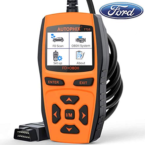 Price comparison product image AUTOPHIX 7710 OBD II Scanner for Ford Lincoln Mercury Diagnostic Scan Tool Check Engine with ABS SAS SRS EPB TCM Battery Oil Reset for All Ford car After 1996 [Upgrade Version]