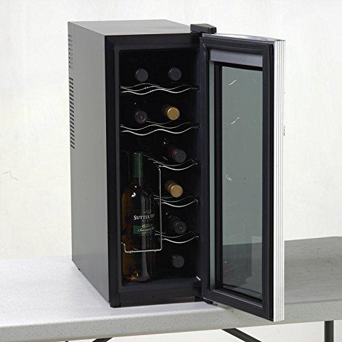 Avanti 12 Bottle Thermoelectric Counter Top Wine Cooler - Model EWC1201,Black