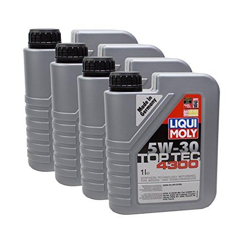 Liqui Moly 4X 3740 Top Tec 4300 5W-30 Motoröl