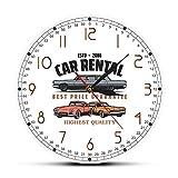 Alquiler de Coches Logotipo de Empresa Personalizado Reloj de Pared Alquiler de Coches Decoración de Oficina Arte de la Pared Reloj de Pared de Garaje Regalo de Conductor mecánico Personalizado