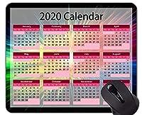 休日カスタムオリジナルマウスパッド、カラフルでカラフルなマウスパッドと2020カレンダー