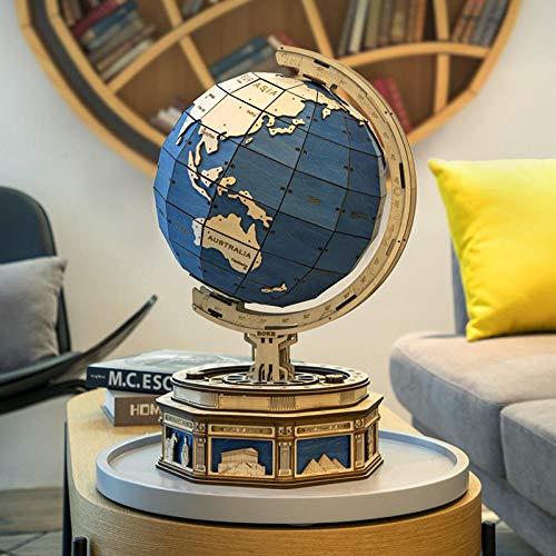 567pcs 3D Holzpuzzlespiele Globe Earth Ocean Map Ball Modellspielzeug zusammenstellen Geschenk für Kinder Jungen