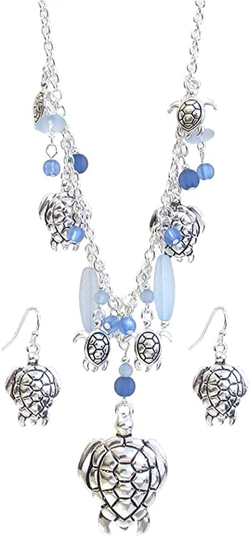 Fashion Fort Worth Mall Jewelry ~ Seallife Theme Blue and Selling Multi Beads Seaglass T