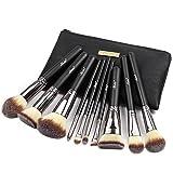 Matto Makeup Brushes Set 10-Piece Foundation Powder Mineral Eye Eyeshadow Makeup Brushes with Travel Bag