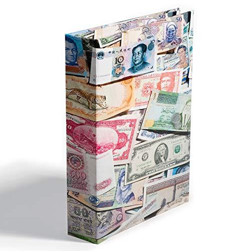 Leuchtturm 309759 Banknotenalbum Bills | Sammelalbum für bis zu 300 Banknoten | Inklusive 100 festeingebundene, säure- und weichmacherfreie Hüllen