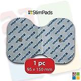 StimPads, mariposa 95X150mm, de alto rendimiento, electrodo TENS - EMS de larga duración con conector universal tipo snap de 3.5mm