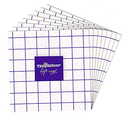 【在庫一掃セール】TECKWRAP 転写シート パープルグリッド艶消し (30x30cm)x8枚 アプリケーションシート リタックシート