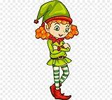 Aaubsk Puzzle 1000 Piezas Elf Clip Art Christmas Series 4 Imagen de Arte Puzzle 1000 Piezas educa Rompecabezas de Juguete de descompresión Intelectual Colorido Juego de ubicación.50x75cm(20x30inch)