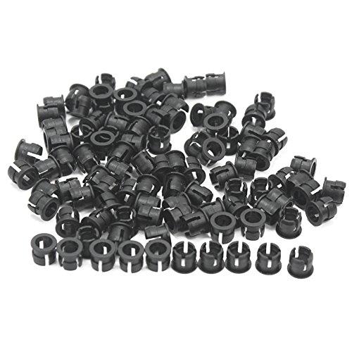 100 pièces en plastique Noir 5 mm LED Clip Support pour panneau d'affichage Plat Cases