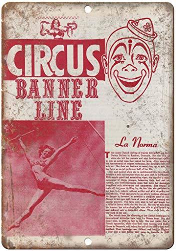 Lorenzo Banner Line Circus La Norma Vintage Metal Vintage Metallblechschild Wand Eisen Malerei Plaque Poster Warnschild Cafe Bar Pub Bier Club Dekoration