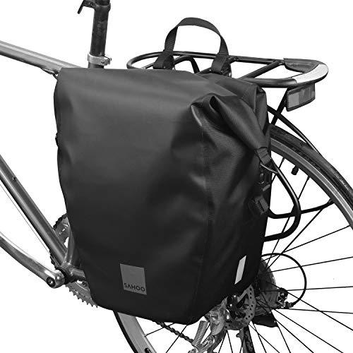 Lixada Bike Rear Bag 10L/20L Bicycle Pannier Bag Saddle Bag Bicycle Rear Seat Bag Bike Carrier Trunk Bag Luggage Double Bag with Waterproof Rain Cover
