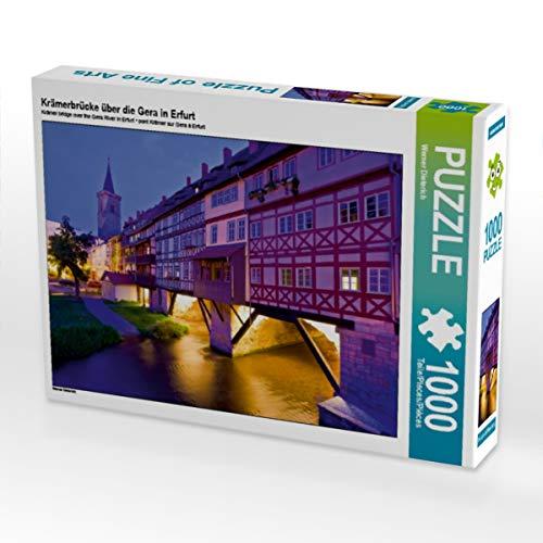 CALVENDO Puzzle Krämerbrücke über die Gera in Erfurt 1000 Teile Lege-Größe 64 x 48 cm Foto-Puzzle Bild von Werner Dieterich