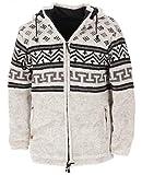 GURU SHOP Chaqueta de punto de lana Nepal, antracita, para hombre, lana, chaquetas, cárdigans, ponchos, alternativa Modelo 5 S