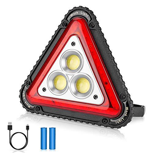 Linkax LED Arbeitsstrahler,20W Baustrahler Akku Arbeitsleuchte Arbeitsscheinwerfer Scheinwerfer Strahler Flutlicht Arbeitslicht mit 4 modi 800 Lumen für Baustelle Garage Werkstatt