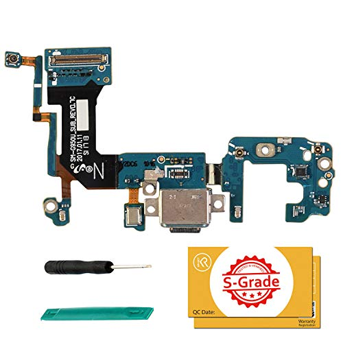 KR NET USB Charging Port Charger Flex Repair Replacement for Samsung Galaxy S8 (SM G950U), with Tools