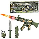 23' Combat Force Machine Gun Military Playset w/ Rifle + Grenade + Knife