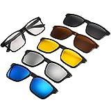 QQBL Myopia Frame Set Specchio Cinque Pezzi Di Retro Maschio E Femmina Generale Polarizzata Assorbente Magnetica Telaio Telaio TAC, UV400, Occhiali Da Sole TR90,A