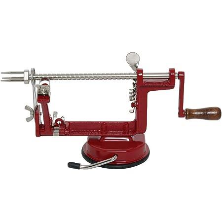VKP Brands VKP1010 Johnny Apple Peeler, Stainless Steel Blades, Red