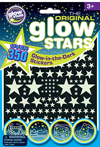 The Original Glowstars – Stickers Phosphorescents, 350 Pièces - Version Anglaise