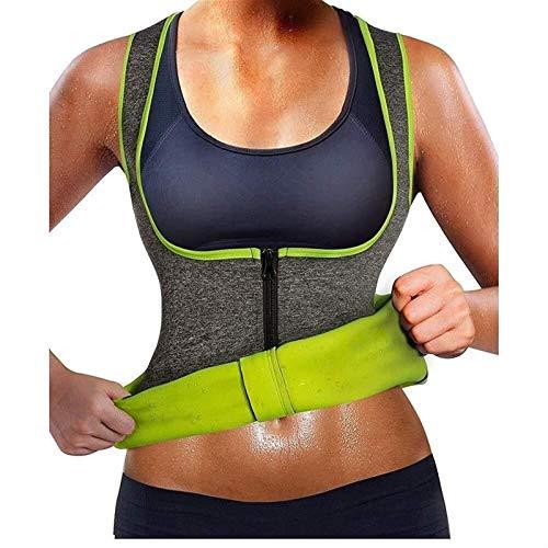 LQQSD Chaleco Neopreno Sauna Mujer Fajas Reductoras Adelgazantes Mujer Compresion para Adelgazante Sudoración para Deporte Fitness (Color : Gray, Size : S)