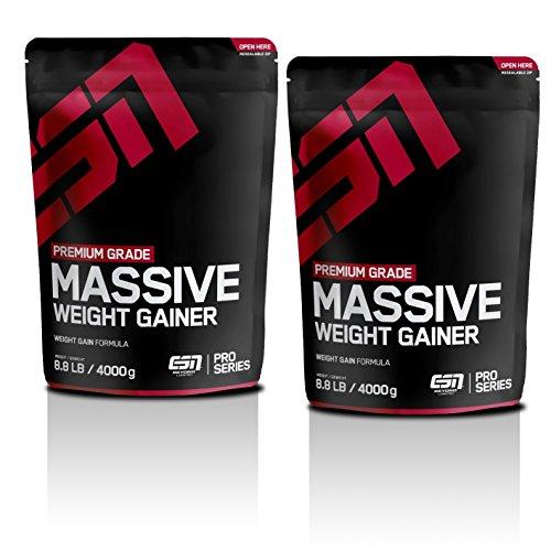 ESN Massive Weight Gainer, Chocolate Cream, 2er Pack (2 x 4kg) 8 kg