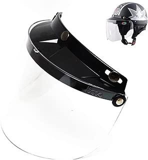 E-Bro 3 Snap Flip Up Visor Face Shield Lens for Open Face Motorcycle Helmets (Clear)